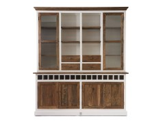 Driftwood Cabinet w winerack Double