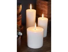 Rustic Candle Basic ivory 10x10