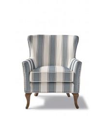 Cavendish Armchair, Blue Stripe