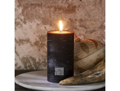 Rustic Candle black 7 x 13