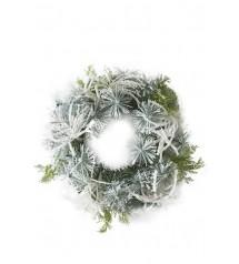 A Frosty Snow Wreath 70cm