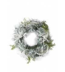 A Frosty Snow Wreath 100cm