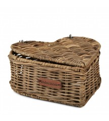 Rustic Rattan Heart Shape Tea Box