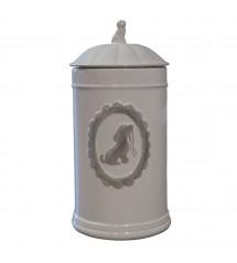 Jar ceramic White
