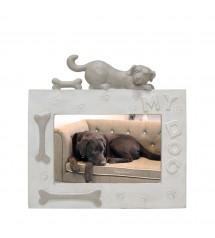 Picture Frame Dog Horizontal Beige
