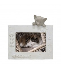 Picture Frame Cat Horizontal Beige