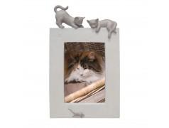Picture Frame Cat Vertical Beige