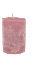 Ludo Candle Ø10X15 Coralred
