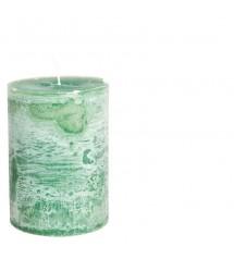 Ludo Candle Ø10X15 Emeraldgreen